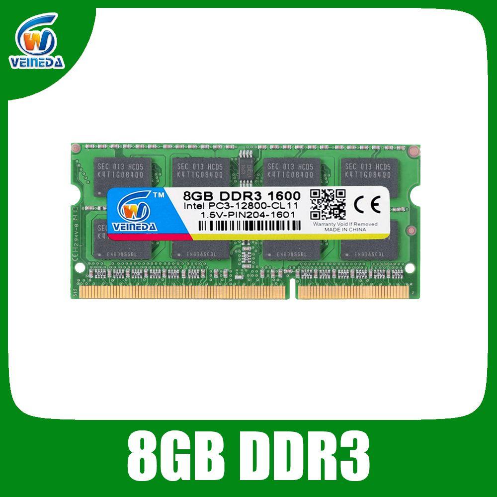 Memoria ram DDR3 8gb 1600 ram-memoria-ddr3 1333Mhz For Intel AMD Sodimm ddr3 8gb pc3-12800 204pin Brand New