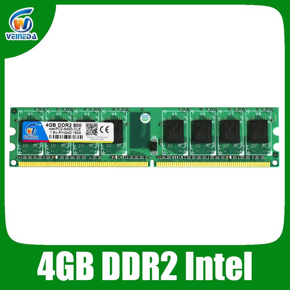 ddr2 8gb 2x4gb ddr2-800 for intel and amd mobo support memoria 8gb ram ddr2 6400