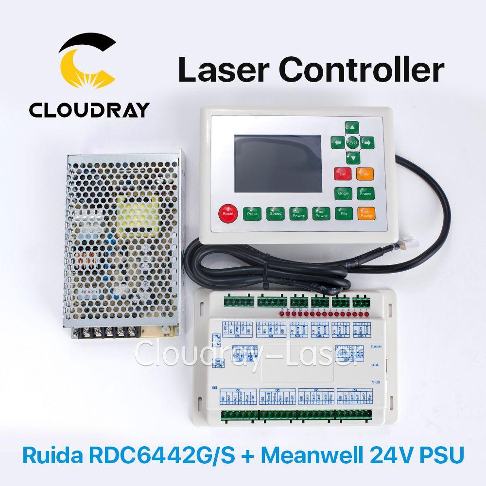 Cloudray Ruida RDC6442G DSP-Controller + Meanwell 24 V 3.2A 75 Watt Schaltnetzteil für Co2 Lasergravur Schneiden maschine