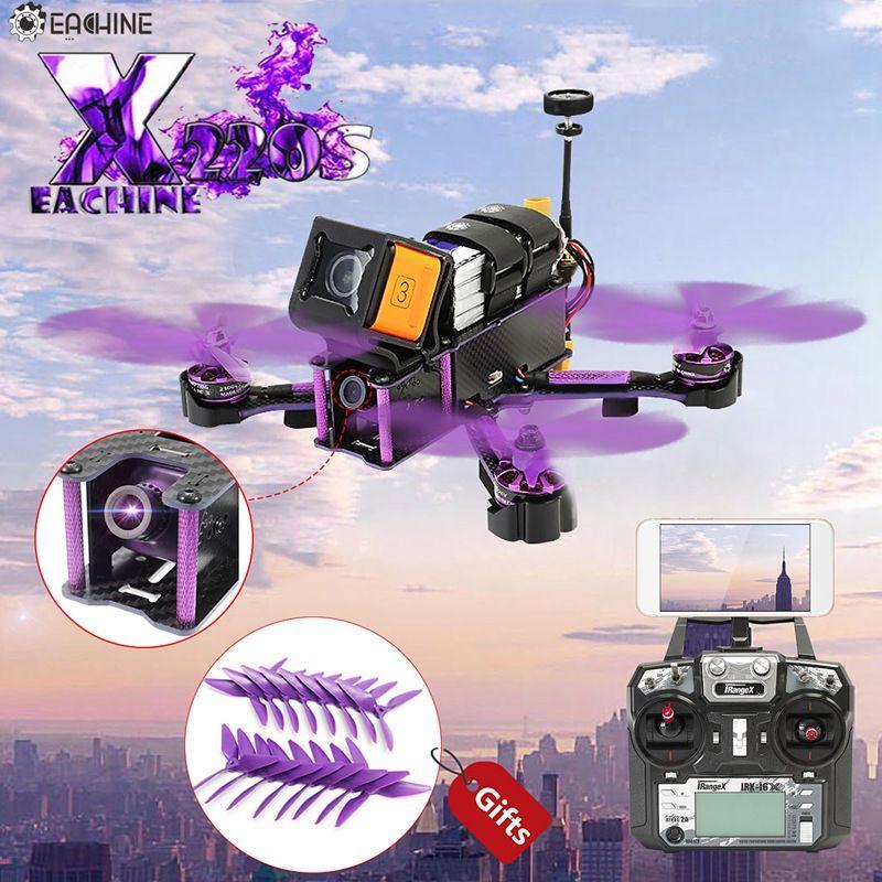 Eachine Wizard X220S X220 FPV Racer Racing Quadcopter Omnibus F4 5,8G 72CH VTX 30A BLHeli_S 800TVL Kamera w/iRangeX iRX-i6X RTF