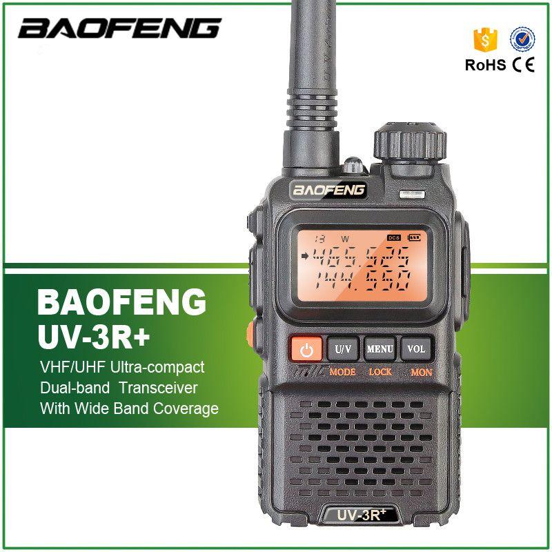 BaoFeng UV-3R Plus Walkie Talkie Portable UHF VHF UV 3R+ CB Radio VOX Flashlight Mini FM Transceiver Ham Radio