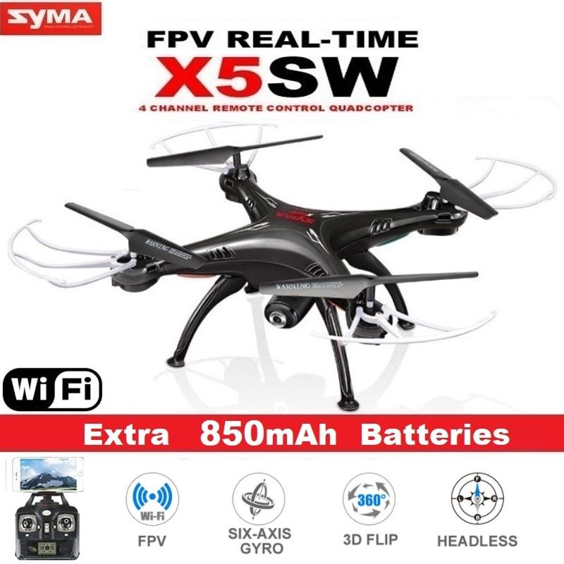SYMA X5SW FPV Drone X5C Upgrade WiFi Camera Real Time Video RC Quadcopter 2.4G 6-Axis Headless Mode Quadrocopter Helicopter