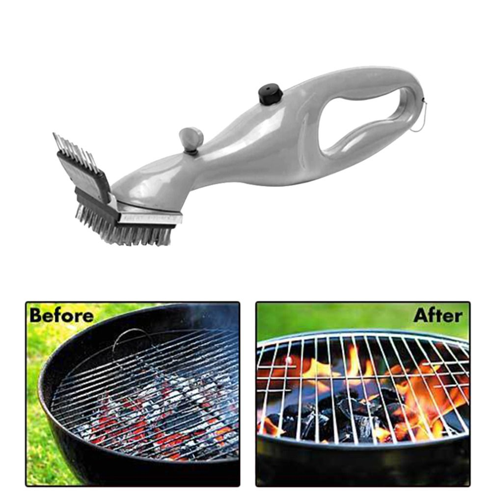 Barbecue Stainless <font><b>Steel</b></font> BBQ Cleaning Brush Churrasco Outdoor Grill Cleaner with Steam Power bbq Accessories Cooking Tools Hot