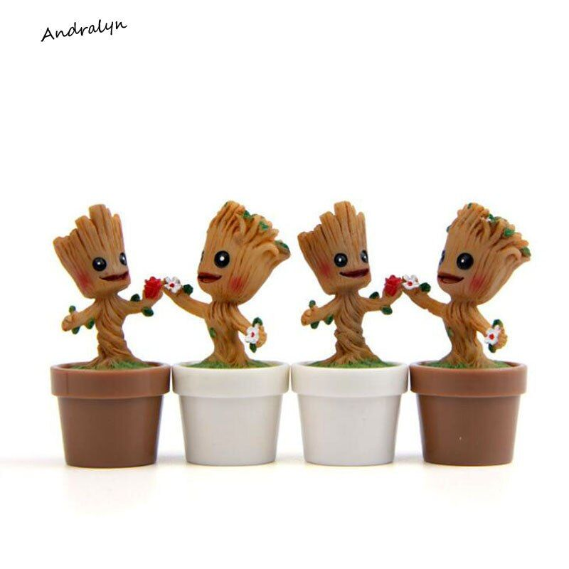 In Stock Brinquedos Guardians Of The Galaxy Mini Cute Model Action And Toy Figures Cartoon Movies And TV