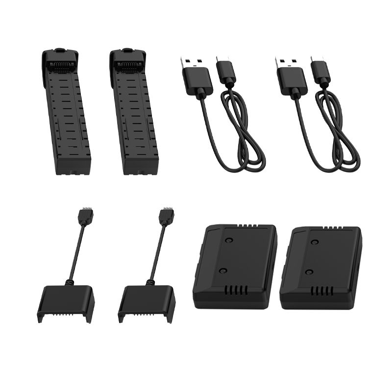 Holy Stone Genuine 2 PCS 2800mAh 7.4V Modular Rechargeable 2 USB Cable 2 Adapter Box 2 Equilibrium filling for HS700