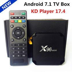 D'origine X96 mini Android 7.1 Smart TV BOX Amlogic S905W Quad Core 2 GB/16 GB KD Lecteur 17.4 Lecteur Multimédia IPTV WIFI Set Top boîte