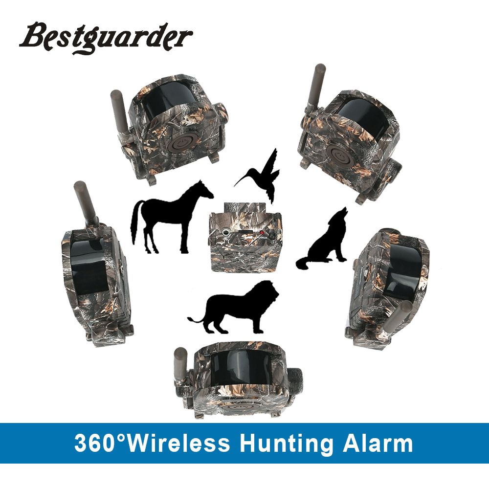 Bestguarder 360 degree Wireless Hunting Alarm System 433MHz Trail Security PIR Alarm Motion Detector Receiver Alarm System Kit