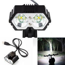 6000LM 2 X CREE XM-L T6 светодиодный USB Водонепроницаемый лампа фонарь для велосипеда огни для велосипеда свет лампы на открытом воздухе Велосипеды ...