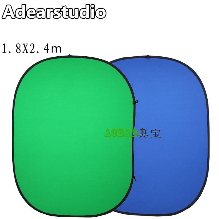 180 x 240cm Background Board Green Blue double-sided photography screen background twist flex background 1.8*2.4m NO00DC