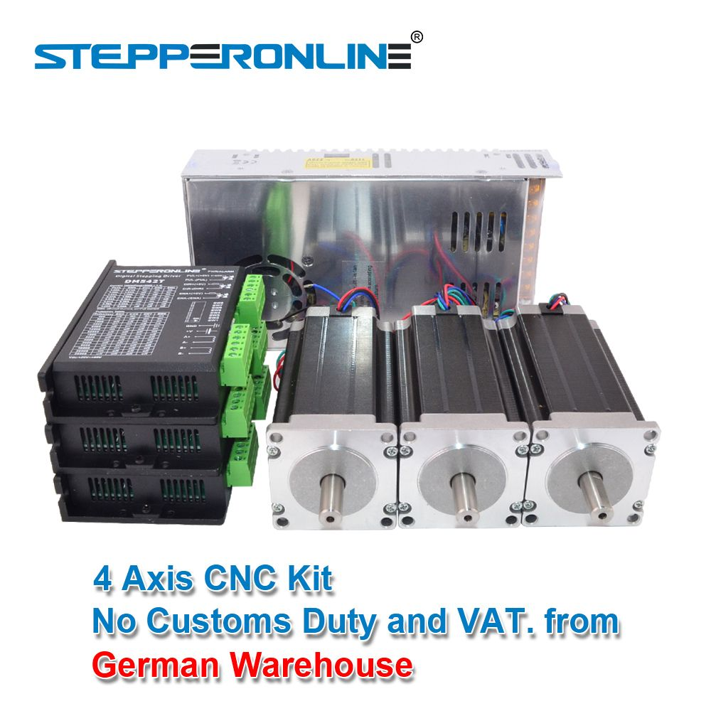 3 Axis CNC Router Kit 3Nm/425oz.in Nema 23 Stepper Motor & Driver CNC Mill Router Lathe