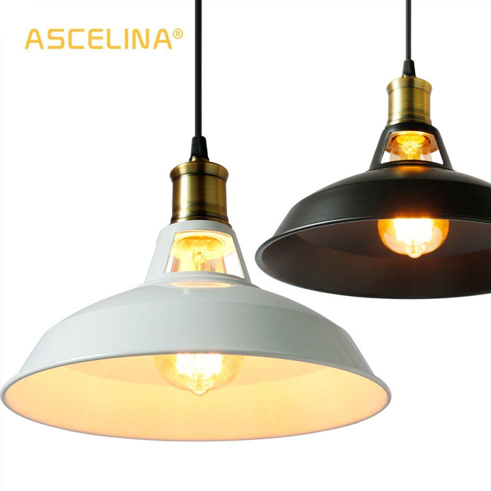 Loft suspension lampes industrielles pendentif lumières Vintage Edison suspension lampe E27 110 220 V pour maison Restaurant décorer lumière ombre
