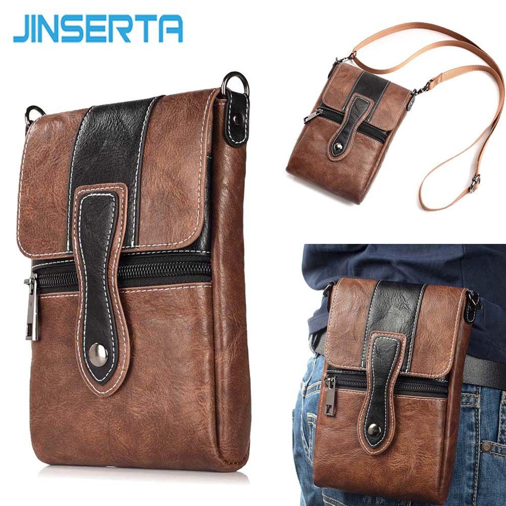 JINSERTA Waist Pack Pouch Phone Bag Wallet Purse Shoulder Strap Hook Loop Belt <font><b>Clip</b></font> Holster Case for iPhone X 8 8plus 6.3''phone