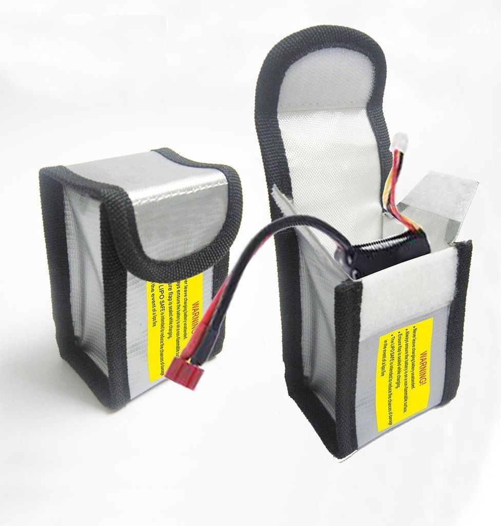 LiPo Batterie Safe Guard Lade Schutz Feuerfeste Explosionsgeschützte Tasche 64*50*150mm/64*50*95mm