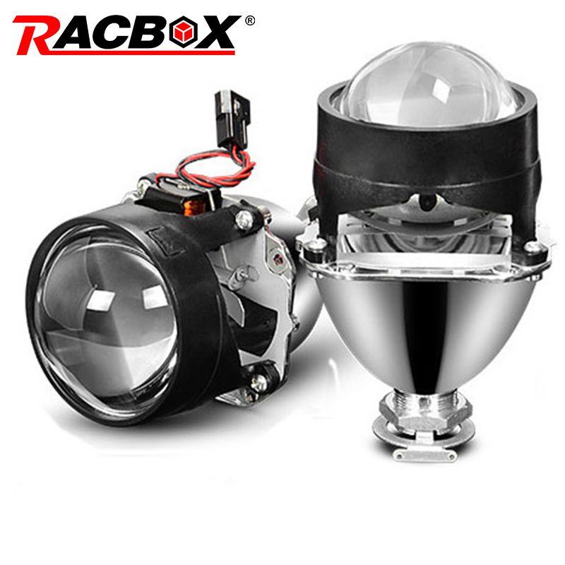 Universual 2.5 inch Mini Projector Len Fit H4 H7 Socket Car Headlight Use H1 HID Bulb For DIY Retrofit Replacement Auto Headlamp