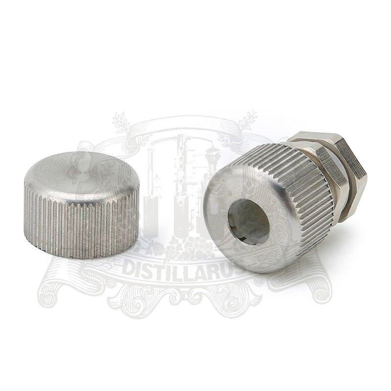 Doigt de gant mamelon en acier inoxydable 4-11mm avec et cap. joint en silicone.