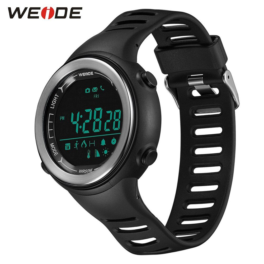 WEIDE Smart Phone Watch Digital Step counter Stopwatch monitor Bluetooth Wearable Electronic Devices Sport IOS Android Relogio
