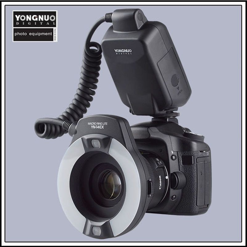YongNuo YN-14EX YN14EX TTL Macro Ring Flash with Adapter Ring for Canon DLSR 550D 650D
