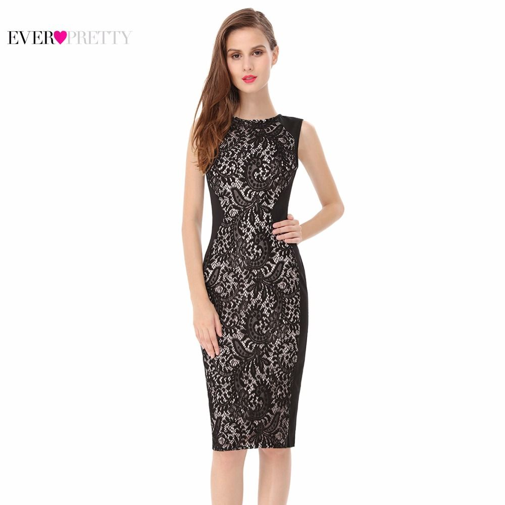 Lace Cocktail Dresses Ever Pretty Charming Stylish Knee Length Summer 2017 Party A-line Sleeveless HE05336 Cocktail Dress