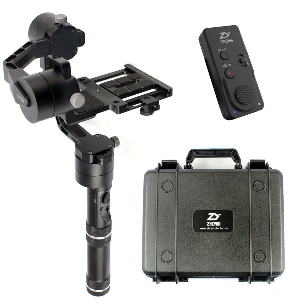 Zhiyun Crane V2 Stabilizer Gimbal for 1.8KG Mirrorless DSLR Canon Camera W Case New Remote Controller Extended Dual handheld Kit