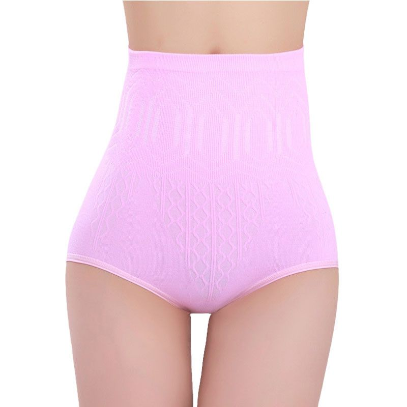 2016 New Arrival Fashion Sexy Womens High Waist Tummy Control Body Shaper Briefs Slimming Pants Free Shipping  Pink  #3546
