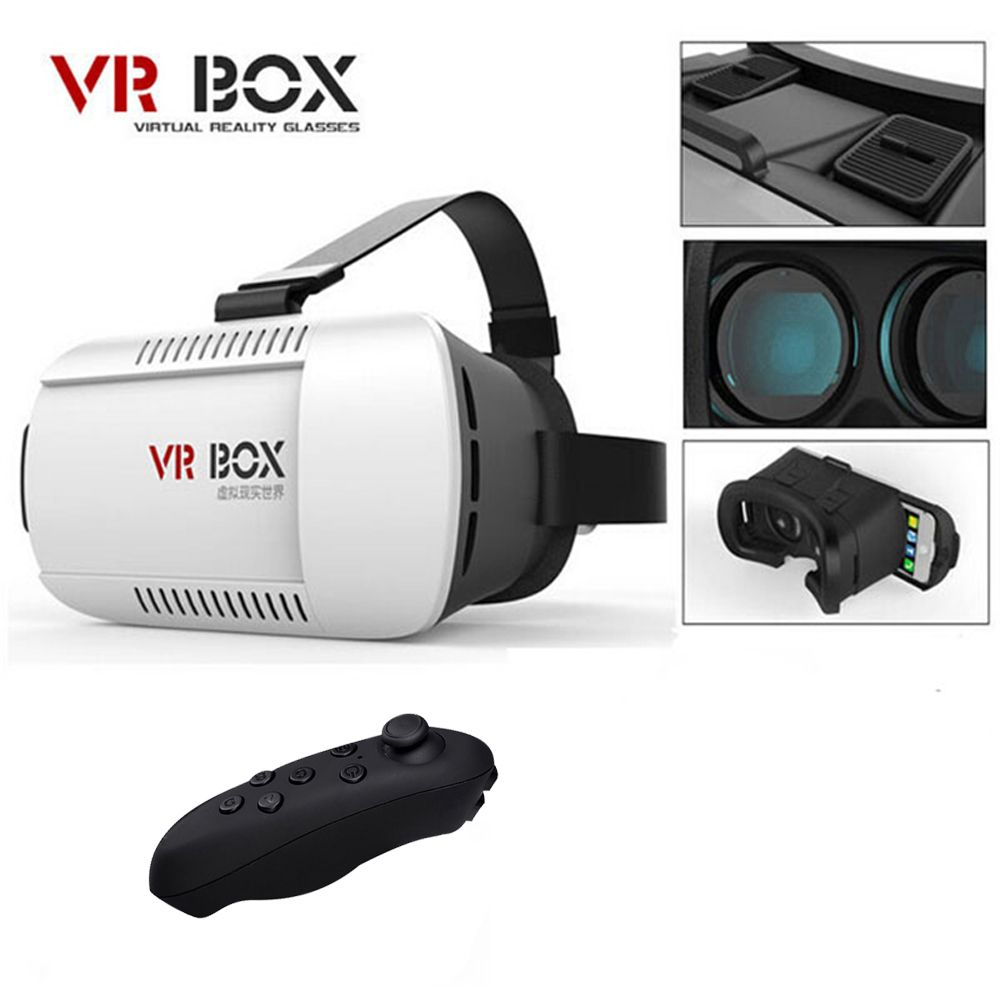 VR Box Vrbox Casque Video 3 D Gerceklik Google Cardboard Virtual Reality Goggles 3D VR Glasses Smartphone Helmet Headset Lens 3D