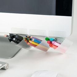 NNRTS Stationery Desktop Finishing Diy Receive Box Office Supplies Computer Screen Portable Small Pen Holders