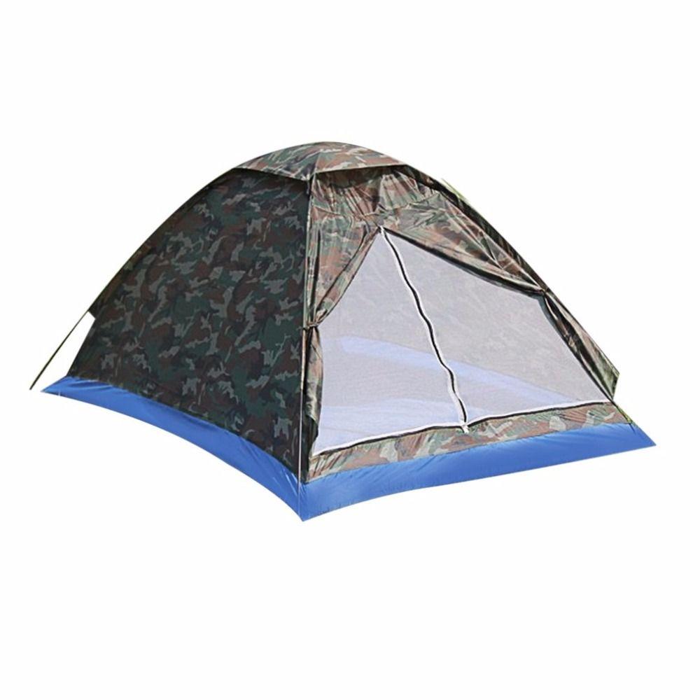 En plein air Portable Plage Tente Camouflage de Camping Tente pour 2 Personne Seule Couche polyester tissu Tentes PU1000mm Sac de Transport Voyage