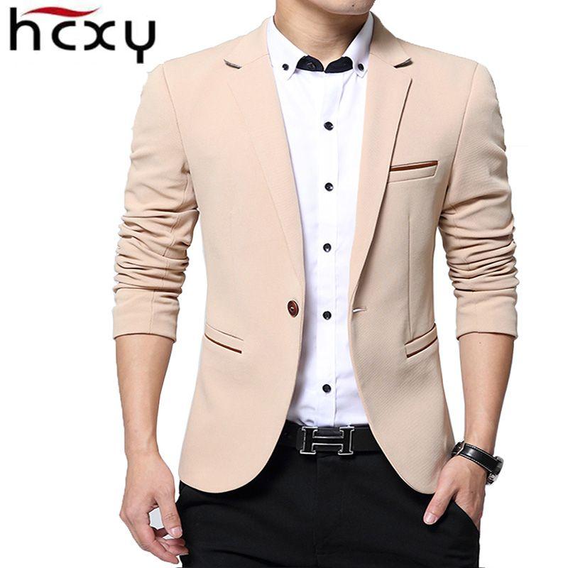 HCXY модные Для мужчин Блейзер Повседневные комплекты одежды Slim Fit пиджак Для мужчин весна костюм Homme, TERNO masculin Блейзер, куртка