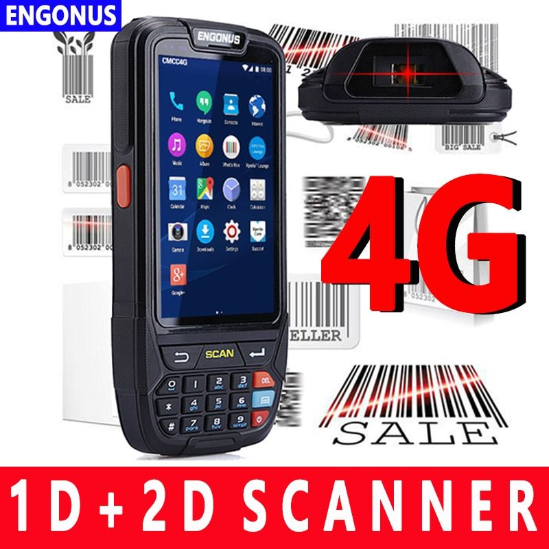 2018 latest Design 4000mA battery capacity Android Barcode Scanner handheld terminal PDA Programmable Handheld Computer Pda