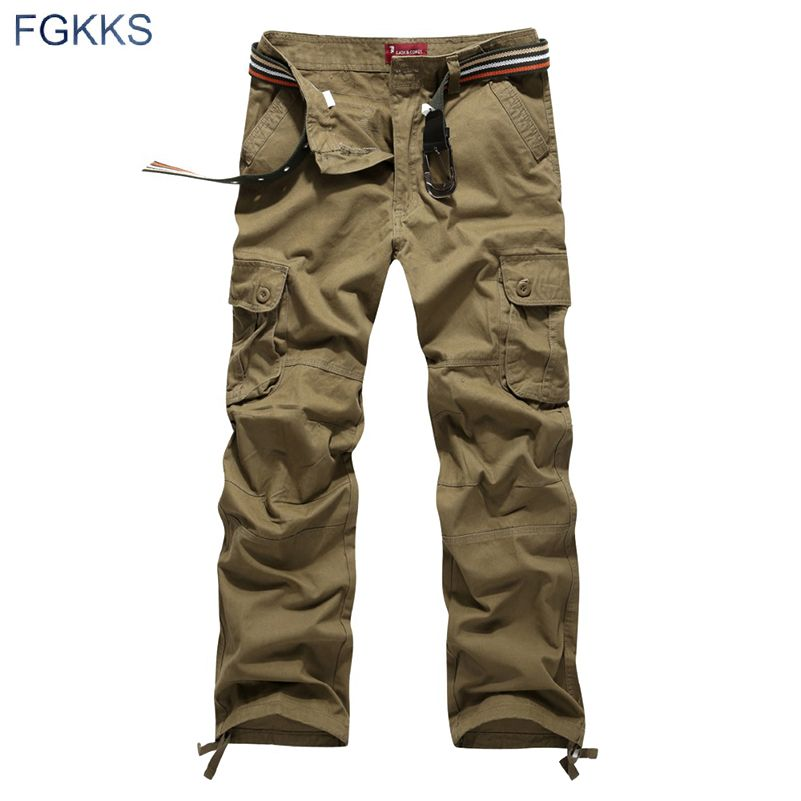 2017 New <font><b>Arrival</b></font> High Quality Spring Style Top Fashion Clothing Solid Mens Cargo Pants Cotton Men Trousers Joggers Plus Size