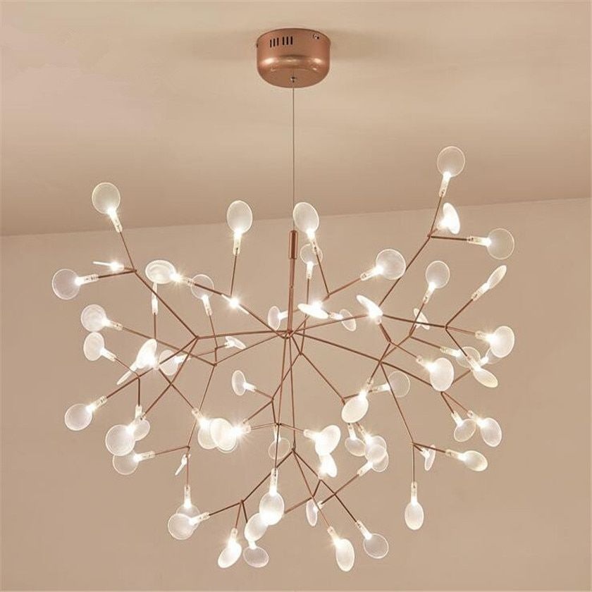 New Design Acrylic Modern Chandelier Lighting lamp G4 led Chandelier Ceiling Luminaria Bedroom Suspended Lamp Firefly Lustre