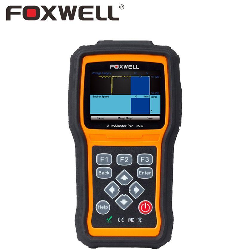 Foxwell nt414 автомобильной OBD2 инструмент диагностики ABS SRS Трансмиссия Двигатели для автомобиля EPB нефть Light Сброс аварии подушки безопасности да...