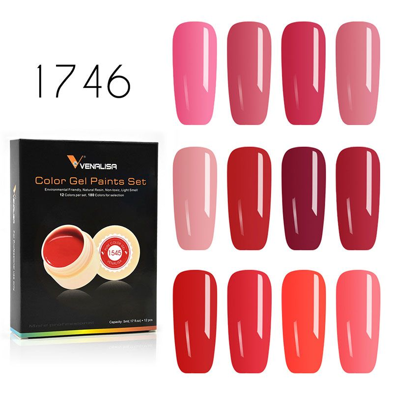 Venalisa Gel Lacquer 5ml Paint Luxury Box Soak Off UV LED Gel DIY French CANNI Gel Polish Design Nail Painting Color Gel Varnish