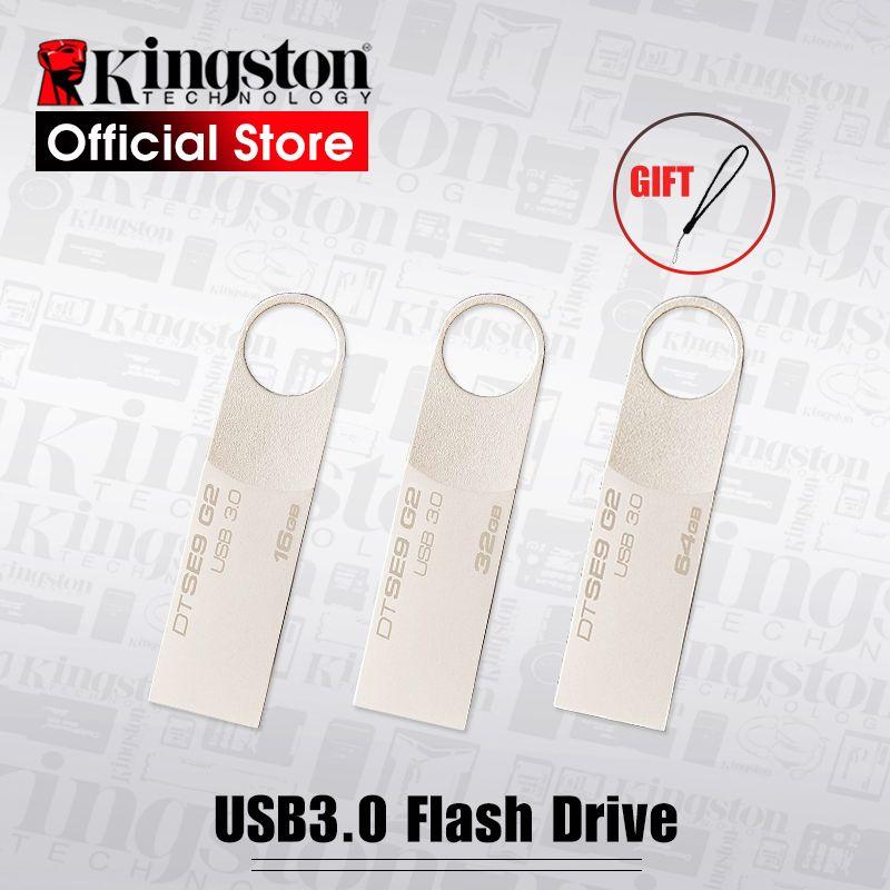 Kingston USB Flash Drive Pendrive Bâton DTSE9G2 8 gb 16 gb 32 gb 64 gb 128 gb 3.0 Pen Drive anneau mentale Mémoire Flash Memoria