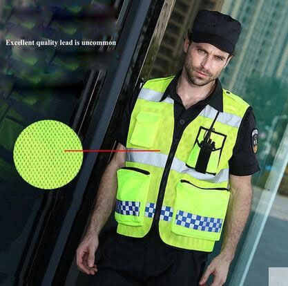 SFVest Free shipping Work Clothes Reflective Safety Vest Chaleco Reflectante Safety Vest Reflective Vest Gilet T057