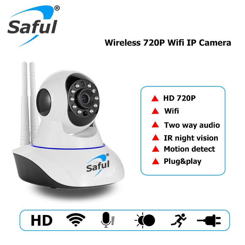 Saful HD 720P IP Camera Wireless Wifi Night Vision Surveillance camera P2P Network CCTV Audio Recording Indoor Baby Monitor