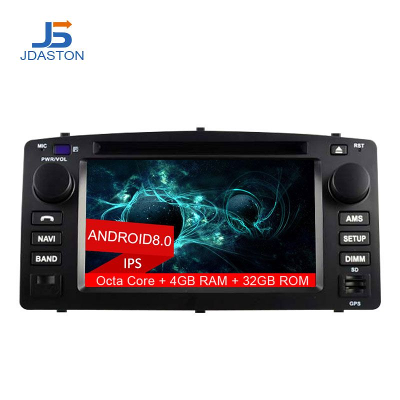 JDASTON 2 DIN Android 8.0 Car DVD Player For Toyota Corolla E120 BYD F3 Octa Cores 4G+32G Car Radio Multimedia GPS Audio Stereo