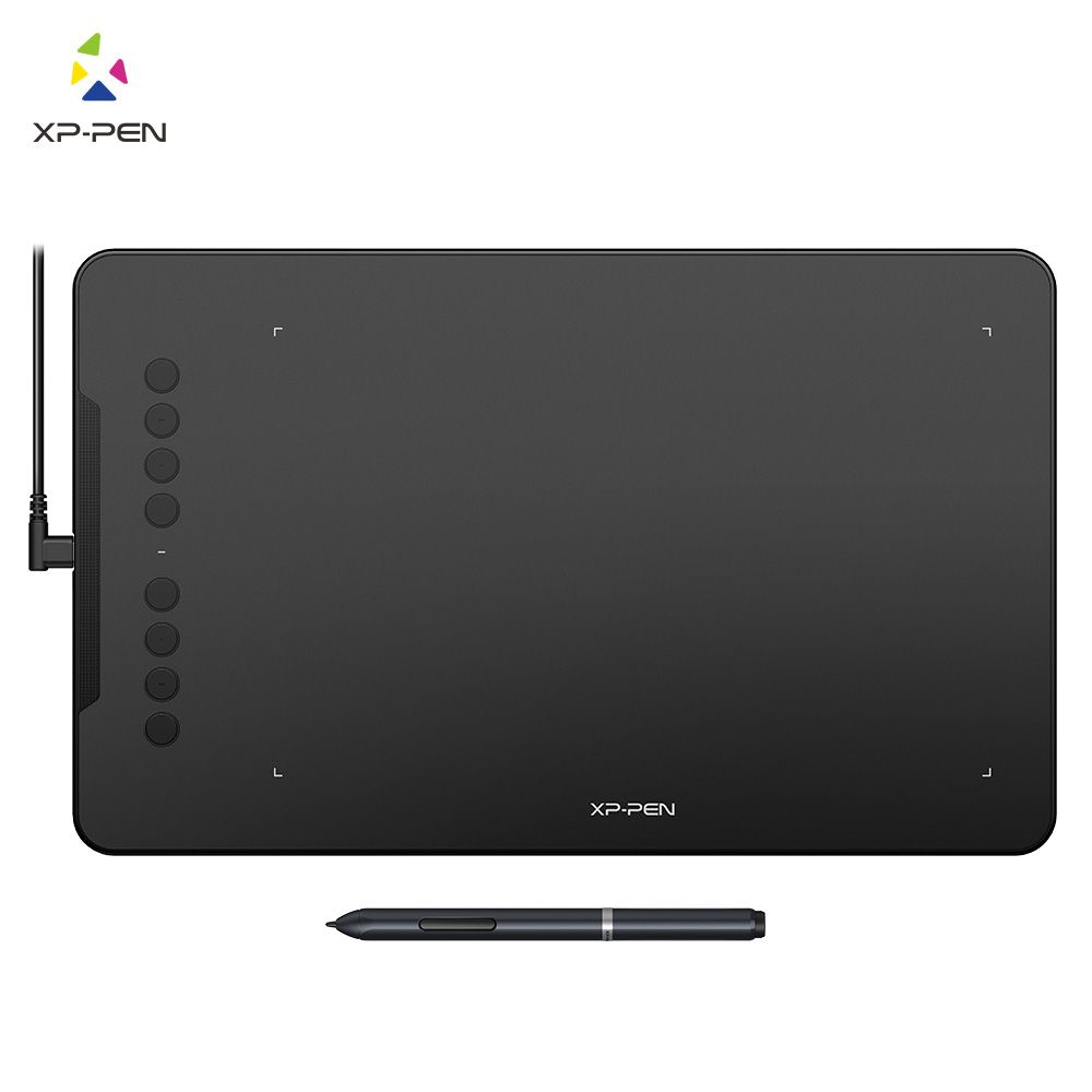 XP-Pen Deco 01 Drawing Tablet Graphic Tablet Digital Tablet with Battery-free Stylus and shortcut keys (8192 levels pressure)