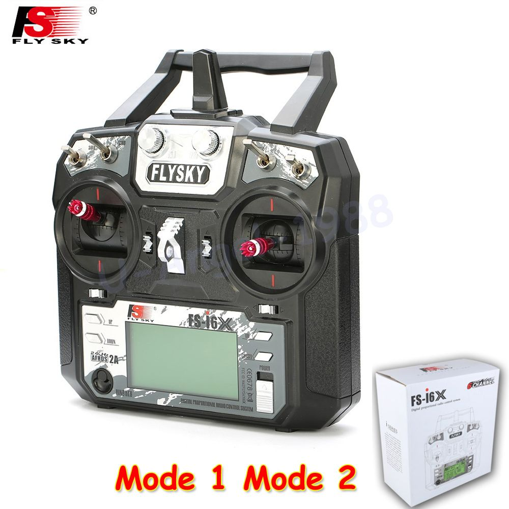 1pcs Original Flysky FS-i6X 2.4GHz 10CH AFHDS 2A RC Transmitter With X6B i-BUS Receiver For Rc Airplane Mode 1 Mode 2