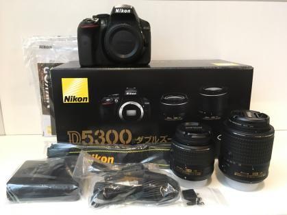 Nikon D5300 DSLR Camera -24.2MP -1080P Video -3.2 Vari-Angle LCD -WiFi & AF-P 18-55mm & AF-S 55-200mm VR Lens