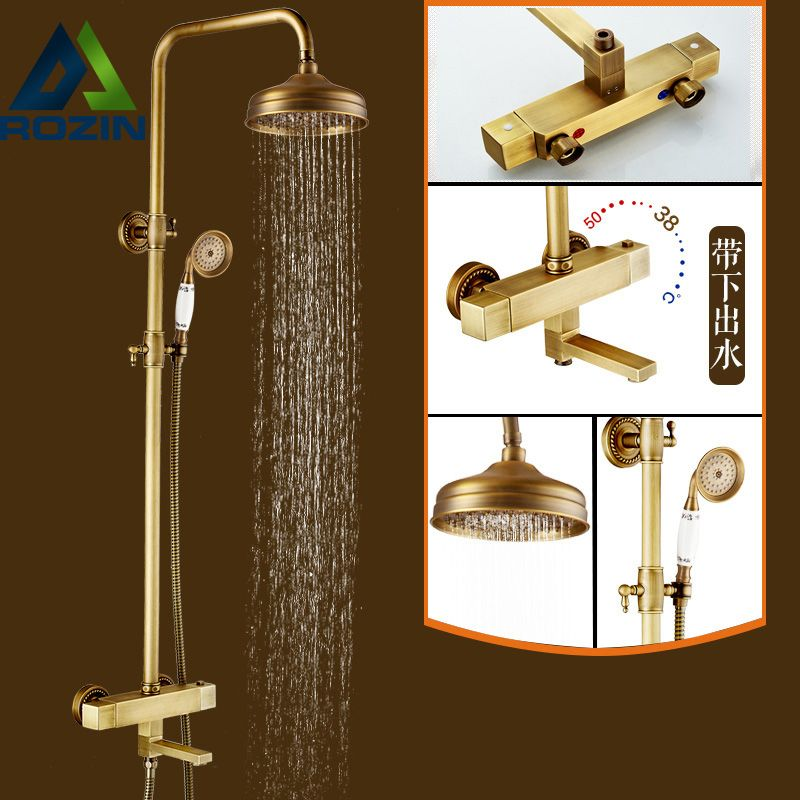 Good Quality Dual Handle Thermostatic Mixer Valve Shower Faucet 8