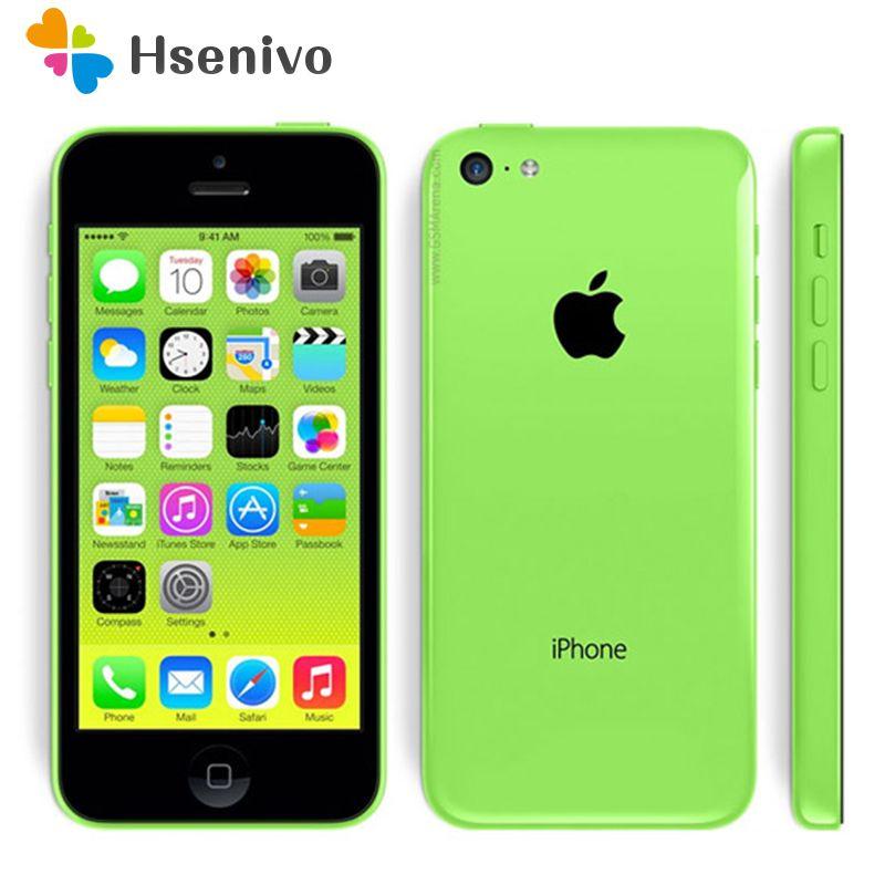 Hot sale Original Unlocked Apple iPhone 5C iOS Dual Core 8GB/16GB/32GB 8MP Camera 4.0 WIFI GPS 3G Cell Phone Free gifts
