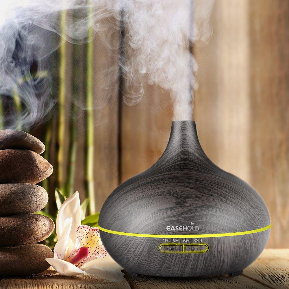 EASEHOLD 300 ml Arrêt Automatique Air Humidificateur D'huile Essentielle Diffuseur Aromathérapie Électrique Super calme Arôme Diffuseur Mist Maker