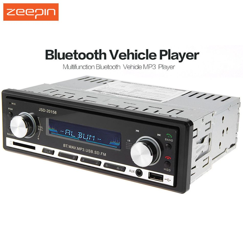 JSD - 20158 12V Car Radio Stereo Player Bluetooth Phone MP3 FM/USB Charging Car Audio Player With Remote Control