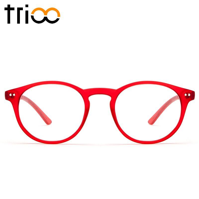 Trioo Ретро Очки Для женщин Оптические очки Винтаж рецепт очки круглые Рамки диоптрий прозрачные линзы чтение зрелище