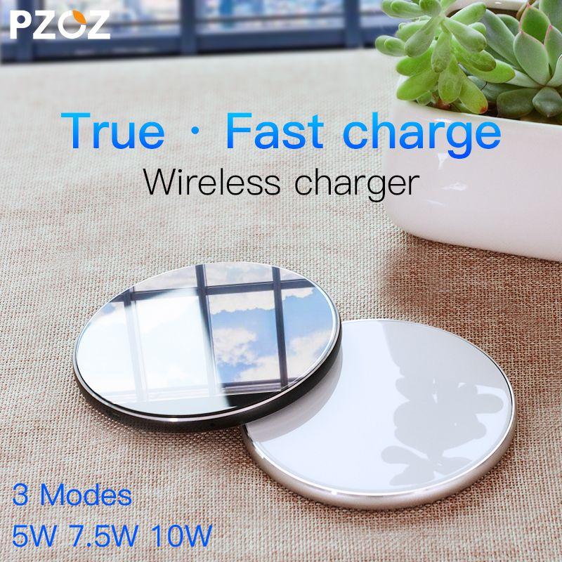 PZOZ Qi Sans Fil chargeur USB Charge pad Charge Rapide Téléphone Adaptateur pour iphone X 8 Plus Samsung S9 S8 note 8 xiaomi mi mix 2 s