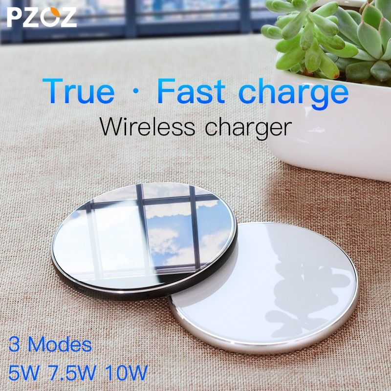 PZOZ Qi Wireless charger USB Charge <font><b>pad</b></font> Fast Charging Phone Adapter for iphone X 8 Plus Samsung S9 S8 note 8 xiaomi mi mix 2s
