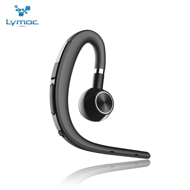 Lymoc mise à niveau Y3 + Bluetooth écouteur mains libres crochet d'oreille sans fil casques V4.1 suppression de bruit HD Mic musique pour iPhone Huawei