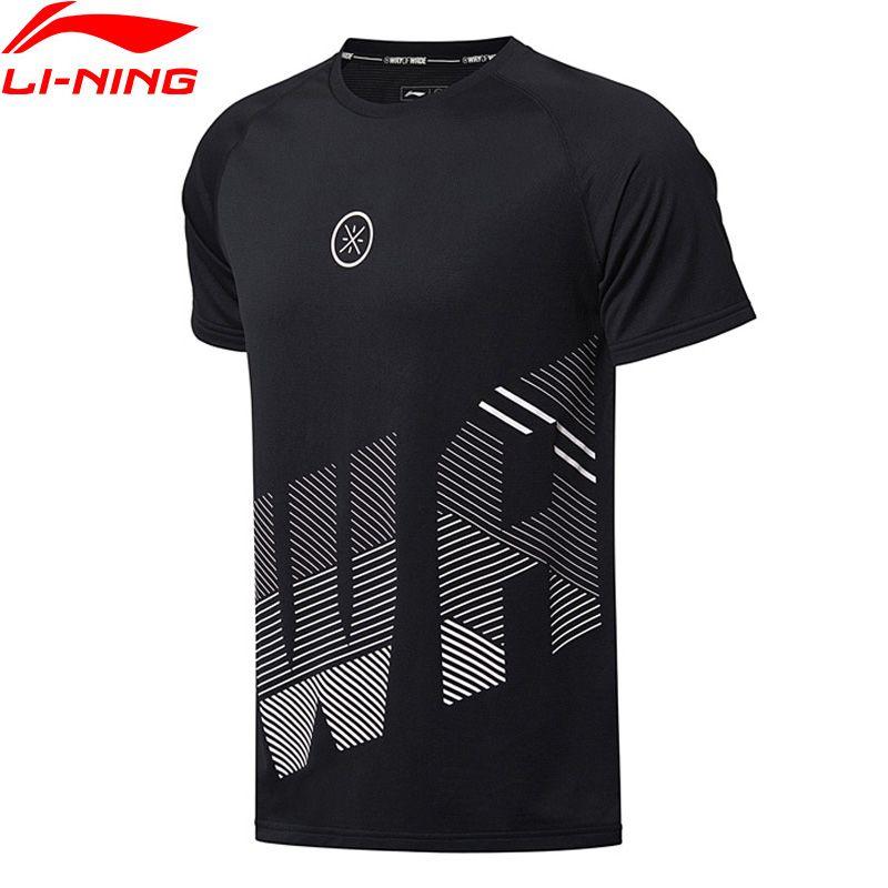 Li Ning 2018 Männer Wade Serie Basketball Jersey T-Shirts Polyester Regular Fit Li Ning Sport T-Shirt T ATSN019