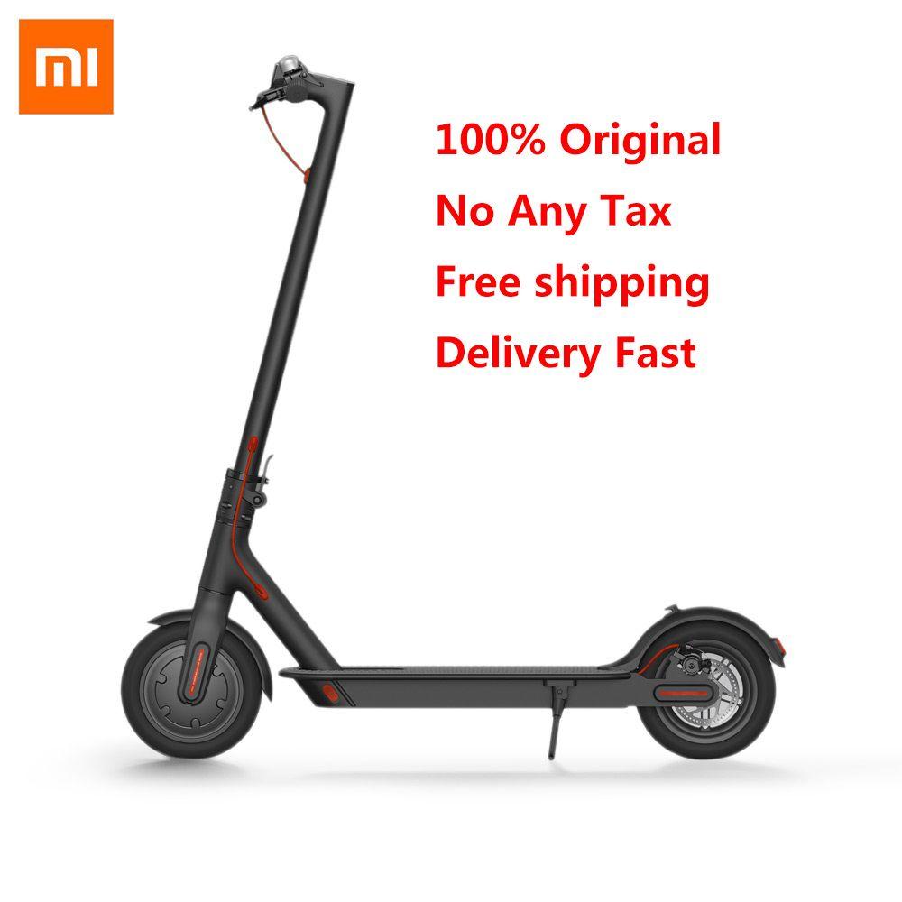 Original Xiaomi M365 Klapp Elektrische Roller Ultraleicht Skateboard 30 km Laufleistung Smart Roller 2 Räder Mini Elektro-scooter